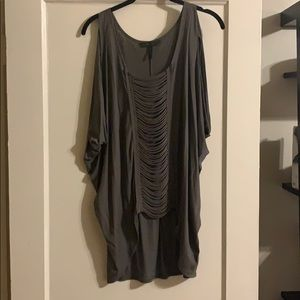 BCBG Maxazria Eve Top In Dusty Olive